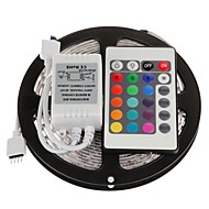 5M 300X3528 SMD RGB Waterproof and 24Key Remote Controller LED Strip Light