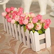 Rama Poliéster Rosas Flor de Mesa Flores Artificiales 30 x 10 x 10(11.8'' x 3.94'' x 3.94'')