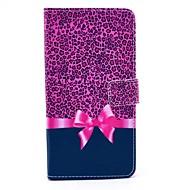 Mert Samsung Galaxy Note Kártyatartó / Állvánnyal / Flip / Minta Case Teljes védelem Case Leopárd minta Műbőr Samsung Note 4