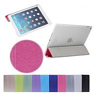 abordables 30% de DESCUENTO y Más-Funda Para iPad Air 2 con Soporte Activado / Apagado Automático Origami Funda de Cuerpo Entero Color sólido Cuero de PU para iPad Air 2