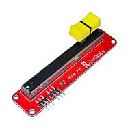 お買い得  Arduino 用アクセサリー-ArduinoのためのFR4 +アルミニウム合金の電子スライドポテンショメータモジュール - 黄+黒+赤