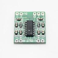 お買い得  Arduino 用アクセサリー-ミニデジタルオーディオアンプ基板 - 緑