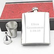 abordables Copas y Vasos Personalizados-personalizado plata regalo 18 oz conjunto petaca de acero inoxidable