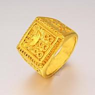 Χαμηλού Κόστους -Ανδρικά Δακτύλιος Δήλωσης Δακτυλίδι με σφραγίδα Επιχρυσωμένο Μοντέρνα Μοδάτο Δαχτυλίδι Κοσμήματα Για Χριστουγεννιάτικα δώρα Γάμου Πάρτι Καθημερινά Causal Αθλητικά 9