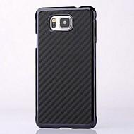 Недорогие Чехлы и кейсы для Galaxy J-никелированная углеродного волокна палки искусственная кожа задняя крышка для Samsung Galaxy альфа g8508s (разных цветов)