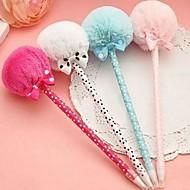 originalidade bowknot canetas esferográficas de pelúcia (cores aleatórias)