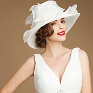 お買い得  -オーガンザ サッシュ/リボン  -  帽子 1 結婚式 / パーティー / カジュアル かぶと