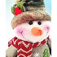 abordables Artículos para Celebración-Monigote de nieve Bonito Retro Muñeco de Nieve Textil Regalo 1pcs