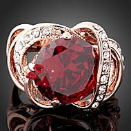povoljno -Žene Prstenje sa stavom Moda luksuzni nakit Sintetički gemstones Kubični Zirconia Legura Jewelry Za Party