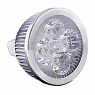5W GU5.3(MR16) LED Spotlight MR16 4 leds High Power LED 500lm Warm White Cold White Warm: 2800-3200K ; Cool: 6000-6500KK Dimmable DC 12