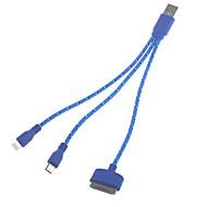 Χαμηλού Κόστους ΘΗΚΕΣ ΤΗΛΕΦΩΝΟΥ-3-σε-1 καθολικής USB 2.0 φόρτισης και καλώδιο δεδομένων για samsung και το iPhone (22 εκατοστά)