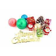 abordables Artículos para Celebración-Decoraciones Navideñas Decoraciones Para el Árbol de Navidad Juguetes Bonito El plastico 12 Piezas