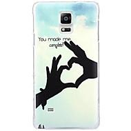 Для Samsung Galaxy Note С узором Кейс для Задняя крышка Кейс для С сердцем PC Samsung Note 4