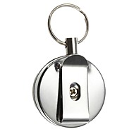 Key Chain Circular High Quality Key Chain / Retractable Silver StainlessSteel