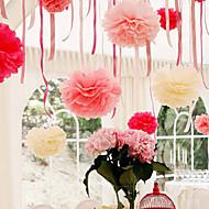 4 tommer silkepapir pom poms bryllupsfest indretning håndværk papir blomster bryllup (sæt af 4)