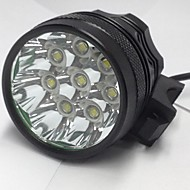 3 Φακοί Κεφαλιού Φώτα Ποδηλάτου LED 8000LM Lumens 3 Τρόπος Cree XM-L U2 6 x 18650 Μπαταρίες Επαναφορτιζόμενο Αδιάβροχη Νυχτερινή Όραση για