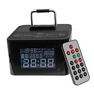 abordables Altavoz Exterior-Tipo de base del altavoz bluetooth inalámbrica con reloj usb fm tf mic para el iphone + compatible teléfono más móvil