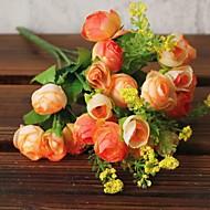 21 cabeça pequena camélia bud alta simulação flores decoração de casa
