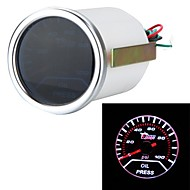 """2 """"52mm 0-100psi univerzális autós füstöt objektív mutatót olajnyomásmérőt autó styling auto gauge-es autót eszköz"""