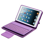 cheap -For Case Cover with Stand with Keyboard Flip Full Body Case Solid Color Hard PU Leather for iPad Mini 3/2/1