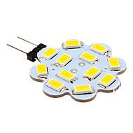 2W G4 LED betűzős izzók 12 led SMD 5630 250lm Meleg fehér Hideg fehér 3500/6000 DC 12