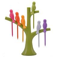 abordables Textiles para el Hogar-pájaro neje en la forma de árboles frutales birdie holder set tenedor