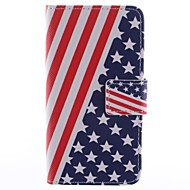 Для Кейс для  Samsung Galaxy Бумажник для карт / со стендом / Флип / С узором / Магнитный Кейс для Чехол Кейс для Флаг Искусственная кожа