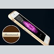 abordables Fundas de iPhone Personalizadas-cáscara de parachoques del marco personalizado grabado exquisito de metal para 4.7 pulgadas iphone 6 (oro, plata, negro, rosa)