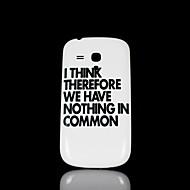 Недорогие Чехлы и кейсы для Galaxy S-Для Кейс для  Samsung Galaxy С узором Кейс для Задняя крышка Кейс для Слова / выражения PC Samsung S3 Mini