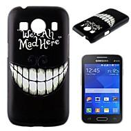 Для Кейс для  Samsung Galaxy С узором Кейс для Задняя крышка Кейс для Черный и белый PC Samsung Ace Style LTE
