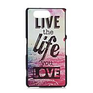fitin® kolorowe słowa plastik twarde etui dla Sony Xperia z3mini