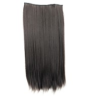 24 inch 120g hosszú szintetikus egyenes klip hajhosszabbítás 5 klip