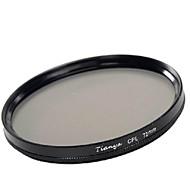 tianya 72mm CPL filtro polarizador circular para canon 15-85 18-200 17-50 lente 28-135mm