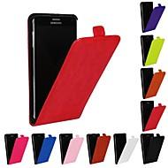 Недорогие Чехлы и кейсы для Galaxy Note-Кейс для Назначение SSamsung Galaxy Samsung Galaxy Note Флип Чехол Сплошной цвет Кожа PU для Note 4