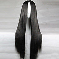 Women Synthetic Wig Long Straight Black Black Wig Costume Wig