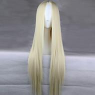Mulher Perucas sintéticas Longo Creme Peruca de Halloween Peruca de carnaval Perucas para Fantasia