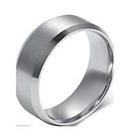 Herre Statement Ring Sølv Mode Moderinge Smykker Til Julegaver Bryllup Fest Daglig Afslappet Sport 7 / 8 / 9 / 10 / 11