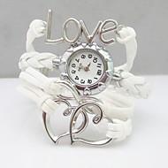 Dames Modieus horloge Armbandhorloge Kwarts PU Band Heart Shape Bohémien Wit