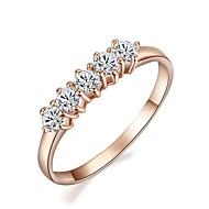 billige Smykker & Klokker-Dame Statement Ring - Krystall, Gullbelagt Mote 7 / 8 / 9 Til Bryllup / Fest / Engasjement