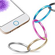 Przycisk wysokiej jakości metalu w domu opiekuna koła pierścień pokrywy dla iPhone 6/6 plus / 5s / ipad powietrza 2 / iPad mini