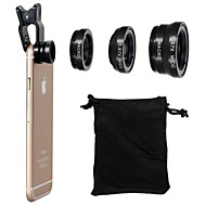 Universal Clip 180° Fish Eye Lens+Wide Angle Lens+Macro Lens 3-in-1 Camera Lens Kits for iPhone 6/6 Plus/5/4 and Others