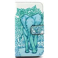 Для Кейс для  Samsung Galaxy Бумажник для карт / со стендом / Флип / С узором Кейс для Чехол Кейс для Слон Искусственная кожа Samsung E7