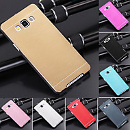 Χαμηλού Κόστους Θήκες / Καλύμματα Galaxy A Series-df πολυτέλεια υψηλής ποιότητας στερεό χρώμα βουρτσισμένο αλουμίνιο σκληρή θήκη για το Samsung Galaxy A7