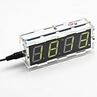 DIY 4桁の7セグメントディスプレイデジタル光制御卓上時計キット(黄色光)