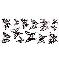 זול -מדבקות קעקועים - גב תחתון - נשים/גברים/מבוגר/נוער - שחור - נייר - 1 - 24*10CM - דפוס