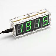 DIY 4-numeroinen seitsemän segmentin näyttö digitaalinen valo-ohjaus työpöytäkello pakki (vihreä valo)