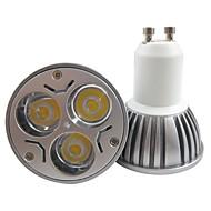 お買い得  LED スポットライト-250-300lm GU10 LEDスポットライト MR16 3 LEDビーズ ハイパワーLED 温白色 / クールホワイト 85-265V