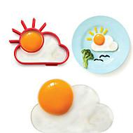 아침 태양이 구름 모양의 계란 링, 계란 금형 요리 도구, 실리콘, L10 * W8 * h1.2cm