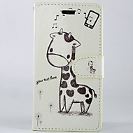voordelige Hoesjes&covers-hoesje Voor Sony Xperia M2 Sony Sony hoesje Kaarthouder Portemonnee met standaard Flip Volledig hoesje Cartoon Hard PU-nahka voor Sony
