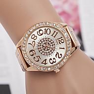 Mulheres Relógio de Moda Simulado Diamante Relógio Quartzo imitação de diamante suíço Designer Metal Banda Prata Dourada Ouro Rose